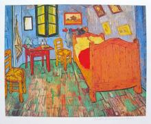 Vincent Van Gogh Van Gogh's Bedroom Estate Signed Limited Edition Giclee