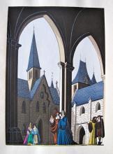 Jean Gradassi Memoirs Of Cardinal Dubois 1950 Color Illustration Limited Edition #6