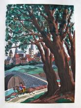 Jean Gradassi Memoirs Of Cardinal Dubois 1950 Color Illustration Limited Edition #10