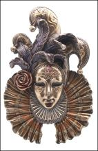 JESTER MASK WALL PLAQUE - Cold Cast Bronze