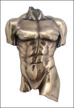 WALL PLAQUE MALE TORSO - Cold Cast Bronze