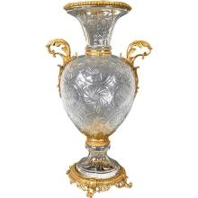 Crystal & Bronze Royale Vase
