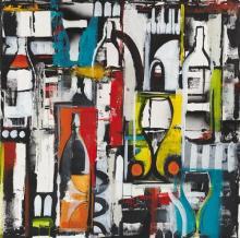 Original-Liz Jardine-Grafitti Vino II