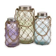 Marci Decorative Glass Jars - Set of 3