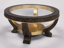 Coffee Table With Glass Dia.42x21