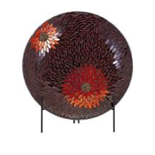 Autumn Flower Mosaic Charger and Stand
