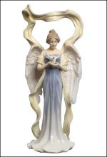 ANGEL FACING FRONT HOLDING DOVE (WHITE DRESS)