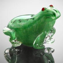 Art Glass Speckled Frog