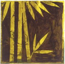 Original-Liz Jardine-Woodblock Palms I