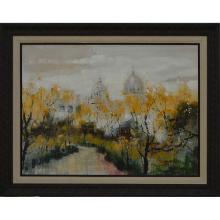 Abstract Landscape -Framed Oil