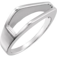 Platinum Freeform Ring