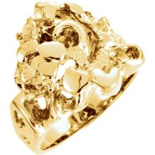 14kt White Nugget Ring