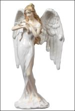 GUARDIAN ANGEL   ANGEL WITH DOVE (WHITE DRESS)
