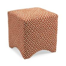 Marisa Graphic Ottoman - Orange