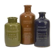 Vintage Elixir Bottles - Set of 3
