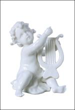 INFANT PLAYING LUTE(WHITE)