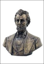 ABRAHAM LINCOLN BUST - Cold Cast Bronze