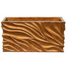 Modern Wave Planter-Gold S