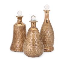 Moxie Copper Glass Bottles - Set of 3
