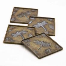 Dragonfly and Leaf Coasters