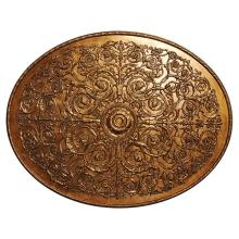 Antique Gold Oval Medallion