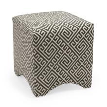 Marisa Graphic Ottoman - Grey