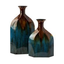 Blaze Blue Drip Bottles - Set of 2