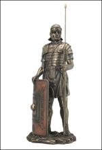 ROMAN SOLDIER WITH JAVELIN AND SHIELD - Cold Cast Bronze