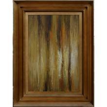 Vertical Abstract - Framed Oil