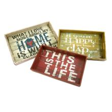 Morris Home Happy and Life Trays - Set of 3