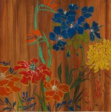 Original-Liz Jardine-Bountiful Garden (Stretched)