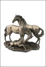 HORSE FAMILY  - Cold Cast Bronze