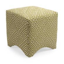 Marisa Graphic Ottoman - Green