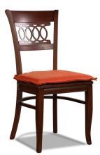 Chair Old Poplar Apricot Fabric