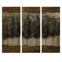 CKI Moody Forrest Oil on Canvas - Set of 3