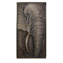 Najia Elephant Framed Oil Painting