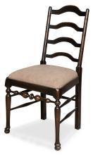 Dining Side Chair Ebony Rub Thru