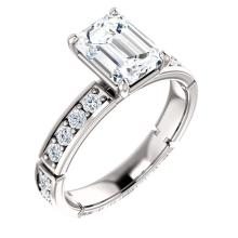 Accented Engagement Ring Or Eternity Band