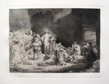 Rembrandt Christ Preaching Hundred Guilder Etching