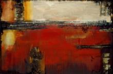 Original-Liz Jardine-Composition in Crimson