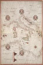 Joan Oliva - Portolan Atlas Of The Mediterranean Sea, Western Europe, And The Northwest Coast Of Africa - Central Mediterranean
