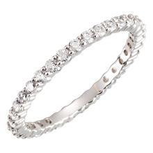 Platinum 5/8 CTW Diamond Eternity Band Size 6