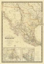 Adrien Hubert Brue - Nouvelle Carte Du Mexique, Du Texas, 1840