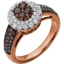 14kt Rose 1 1/8 CTW Diamond Engagement Ring