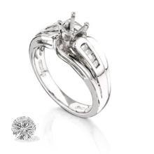 Ring...platinum 9.2 Gram 0.2ct Diamond Si1-si2 G-h
