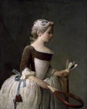 Jean Baptiste Simeon Chardin - Girl With Racket And Shuttlecock