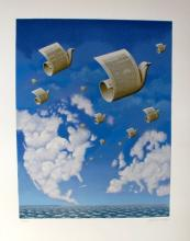 Rafal Olbinski Letters To Europe Hand Signed Limited Edition Serigraph