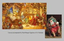 Scott Gustafson - St. Nicholas In His Study W/figurines