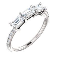 14kt White 1 5/8 CTW Diamond Engagement Ring