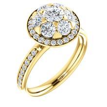 14kt Yellow 1 1/3 CTW Diamond Engagement Ring